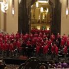 Men's Glee Club recital in an enormous auditorium.