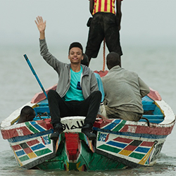 Travelers in small boat