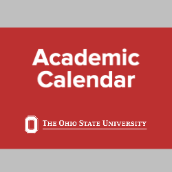 Ohio State academic calendar date