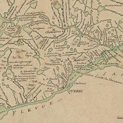Pierre Laure Carte du domaine du Roy en Canada 1731 detail