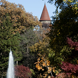 Orton Hall in autumn