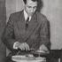 Halim El-Dabh with tape recorder