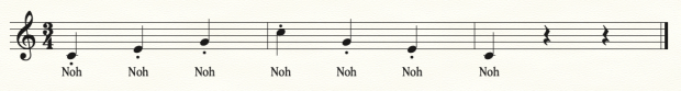 Chorale vocalise 1, NOH