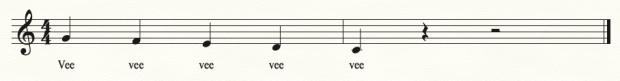 Chorale vocalise 2, VEE