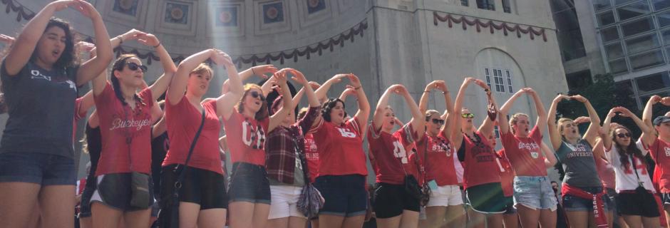 Women's Glee at Ohio Stadium rotunda on game day