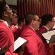 Men's Glee Club singing in New York City