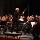 Miriam Burns conducting the Symphony Orchestra