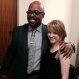 Laura Sayre with Christian McBride, founder of Jazz House Kids