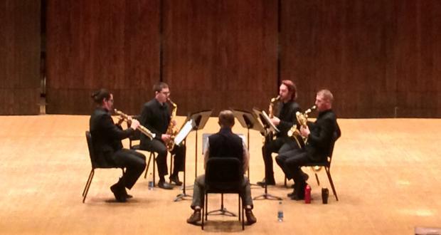 Sax quartet with guest composer David Maslanka