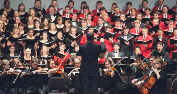 School of Music ensembles perform in the Annual Music Celebration Concert each December