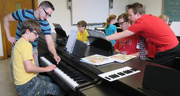 Middle School Concert Band Academy piano class