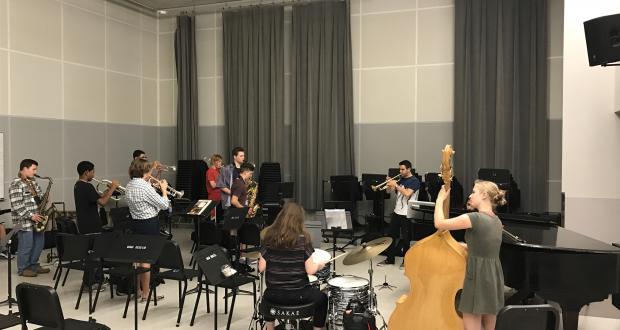 Small combo rehearsal