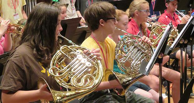 Middle School Concert Band Academy rehearsal
