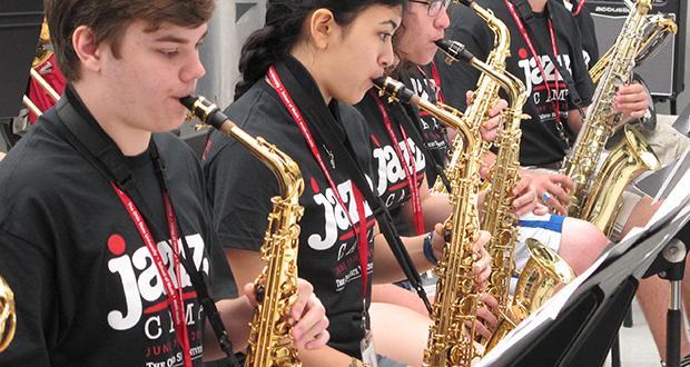 Jazz Camp saxophones