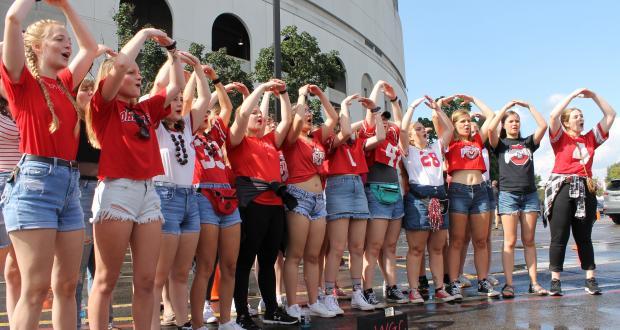 Singing Carmen Ohio outside the Stadium