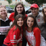 Soprano 2's posing for a picture during a tailgate sing
