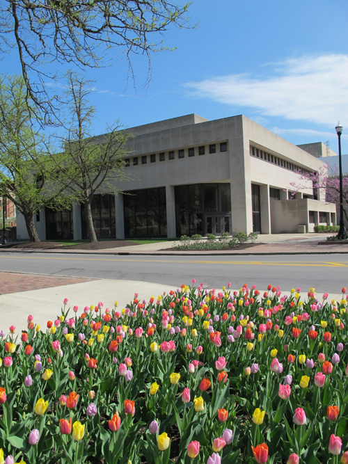 Weigel Hall in Spring