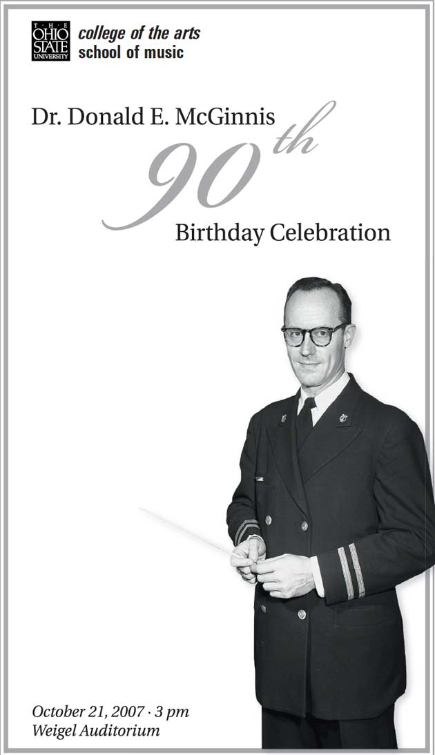 Program Cover for the 2007 Birthday Celebration.