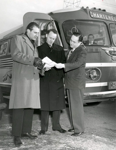 L-R: Unknown, Donald McGinnis, Manley Whitcomb Spring Tour, 1947