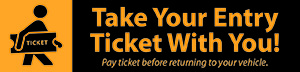 "Take your ticket with you! Pay ticket before returning to your vehicle in Ohio Union South Garage (""Pay-on-Foot"")"