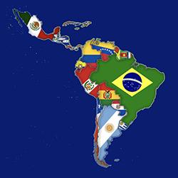 Latin American countries map