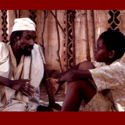 Griot teaching young Keita (image from the film)