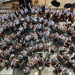 String Teacher Workshop participants and faculty