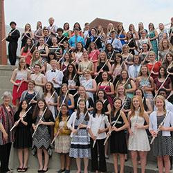 Flute Workshop participants, counselors and faculty