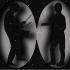 Instrumentalist and vocalist in silhouette