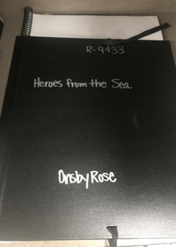 """Cover of Onsby Rose's score, """"Heroes from the Sea"""""""