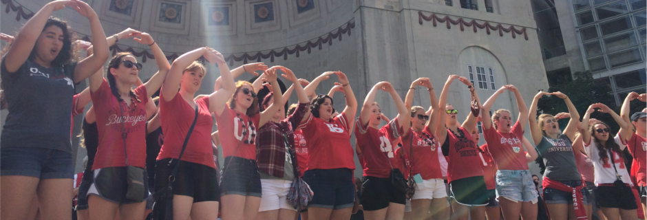 Women's Glee at Ohio Stadium rotunda on game day