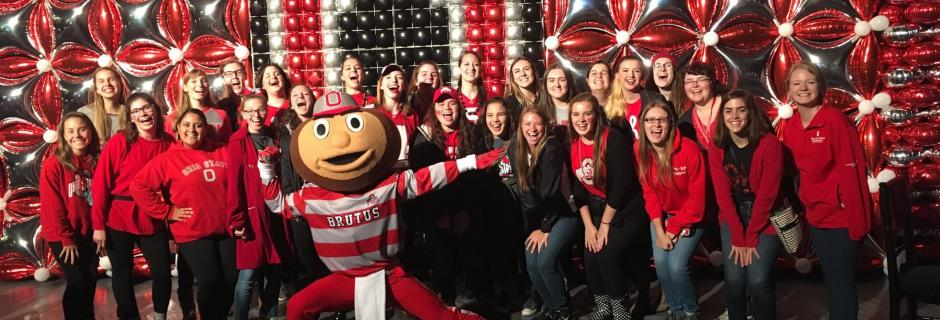Brutus Buckeye with WGC members