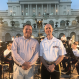 Onsby Rose and Col. Jason Fettig at the Capitol