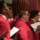 Men's Glee Club singing in New York City
