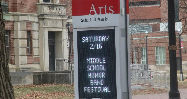 Middle School Honor Band 2019 Marquee on College Rd