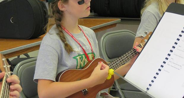 Middle School Concert Band Academy ukelele class