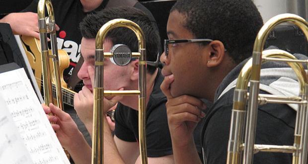 Jazz Camp rehearsal