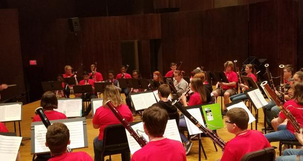 Double Reed Camp rehearsal