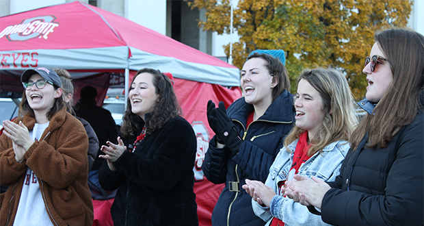 Singing around the Stadium at our last tailgate of the season